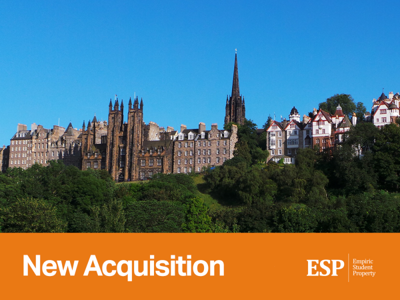 Empiric acquires student accommodation property in Edinburgh: 53-65 South Bridge