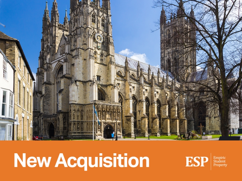 Empiric acquires student accommodation property in Canterbury: Pavilion Court